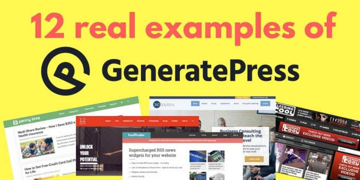 GeneratePress examples