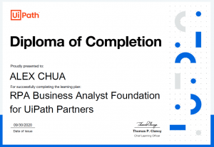 Uipath Certified RPA Business Analyst